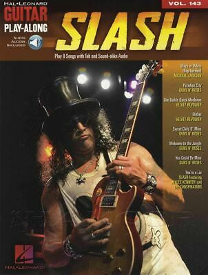 Slash Guitar Play-Along TAB Music Book With Audio Download Volume 143 • 14.69£