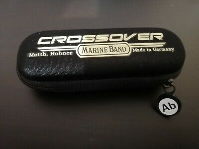 Hohner Marine Band Crossover Harmonica case, Ab sticker + free month of lessons