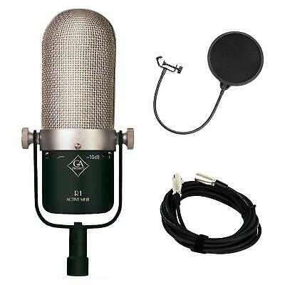 Golden Age Project R1 Active MK3 Ribbon Microphone w/ XLR Cable and Pop Filter