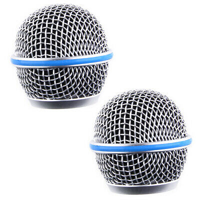 2Pcs Microphone Esh Head Ball Grill Grille Fit For Shure Beta58A SM58 Pgx24 New • 7.59£