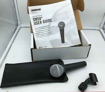 Shure SM58 Handheld Dynamic Vocal Microphone With Manual And Accessories • 55.70£