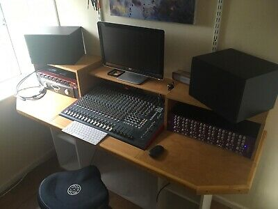 Allen and Heath Zed R16 16 channel mixer with firewire interface and custom desk