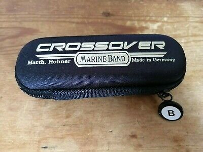 Hohner Marine Band Crossover Harmonica case, B sticker + free month of lessons
