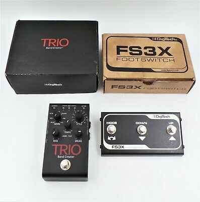 Digitech Trio Band Creator and FS3X Footswitch