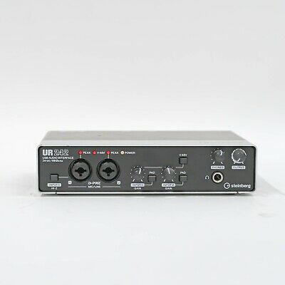 Steinberg UR242 USB Audio Recording Interface with D-PRE Mic Preamps