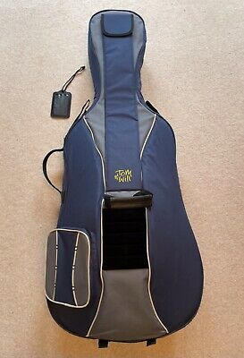 1/2 sized Tom & Will Cello Case Gig Bag Navy Grey Trim 41VC12-215 Classic Used