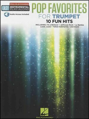 Pop Favorites for Trumpet Easy Instrumental Play-Along Sheet Music Book & Audio