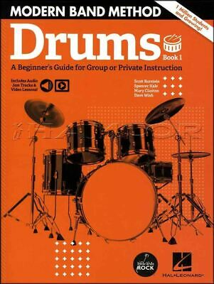 Modern Band Method Drums 1 Music Book/Audio/Video Learn Play SAME DAY DISPATCH