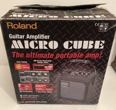 Roland Micro Cube Guitar Amplifier - Black Boxed + Adapter