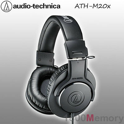 Audio Technica ATH-M20x Professional Studio Monitor Headphones Pro Headset Black • 71.51£