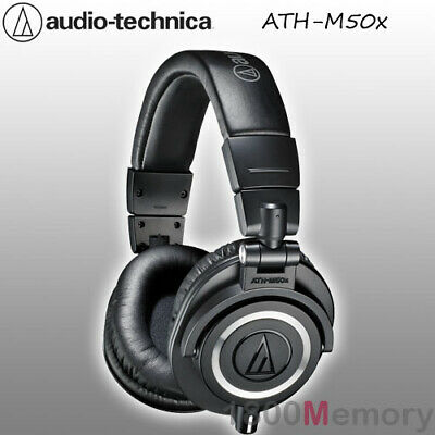 Audio Technica ATH-M50x Professional Studio Monitor Headphones Pro Headset Black • 154.50£