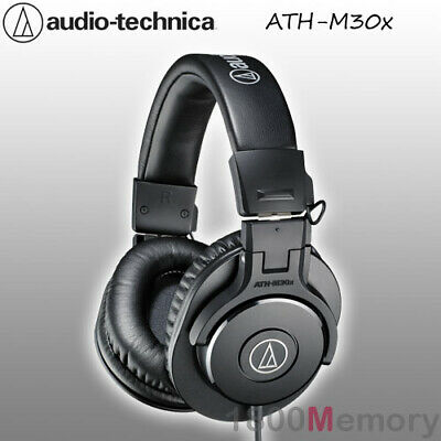 Audio Technica ATH-M30x Professional Studio Monitor Headphones Pro Headest Black • 88.17£