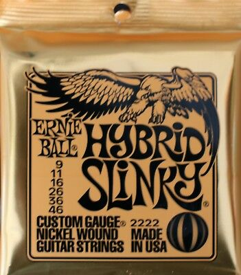 Ernie Ball Hybrid Slinkys9-46 Electric Guitar Strings Delivered By Cadno Music • 8£