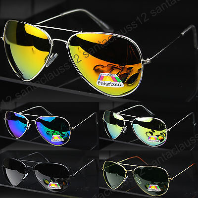 New POLARIZED Pilot Sunglasses  Mens Women's UV400 • 5.25£