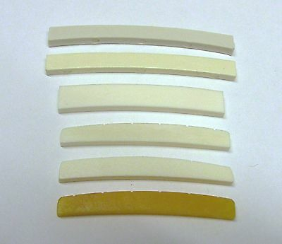Nut (Curved Bottom) for Fender Choice of 6 Types Bone or Plastic