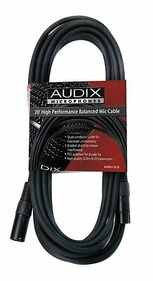Lot Of 6 Audix CBL20 20' Microphone XLR Cables High Quality OM-2,3,5,6,7 ADX-51  • 100.21£