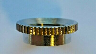 Deep Thread Round Nut For Switchcraft USA Toggle Switches  Choose Nickel Or Gold • 3.25£