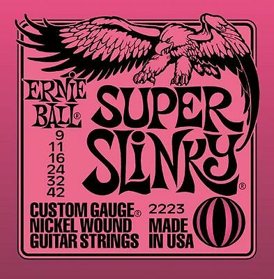 Ernie Ball Super Slinky Electric Guitar Strings 9-42 - 2223 • 6.90£