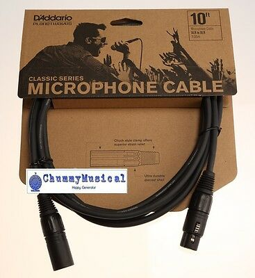D'Addario / Planet Waves PW-CMIC-10 Classic Series XLR Microphone Cable, 10 Feet • 16.95£