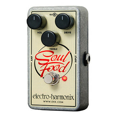 Electro Harmonix Soul Food Transparent Overdrive Guitar Effect Pedal - New Boxed • 84£