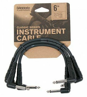 D'Addario / Planet Waves PW-CGTP-305 Classic Series Guitar Patch Cables 3-Pack