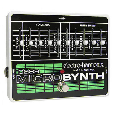 Electro Harmonix Bass Micro Synth Pedal Bass MicroSynth - Guitar Effect Pedal