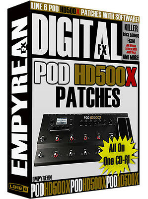 Line 6 POD HD500X Patches Guitar Effects Presets Amp Tone Artist Settings Line6 • 5.16£