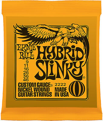 Ernie Ball 2222 Hybrid Slinky Nickel Wound Guitar Strings 9-46 • 6.13£