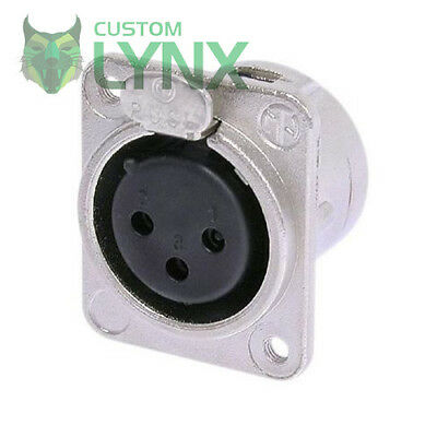 Neutrik NC3FDM3-L-1 Female XLR Chassis Socket. M3 Fixing Connector. 3 Pin Panel  • 5.99£