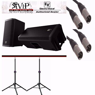 "Electro Voice ZLX15P 15"" Active Speakers + Ultimate TS-90B + XLR Cables BUNDLE • 822.78£"