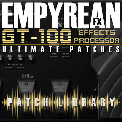 Boss GT-100 Ultimate Patches Guitar Multi-Effects Presets • 5.79£