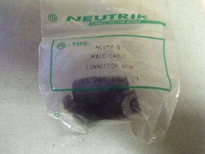 NEW Neutrik NC6MX-B 6-Pin Male Cable Connector  *FREE SHIPPING* • 7.71£