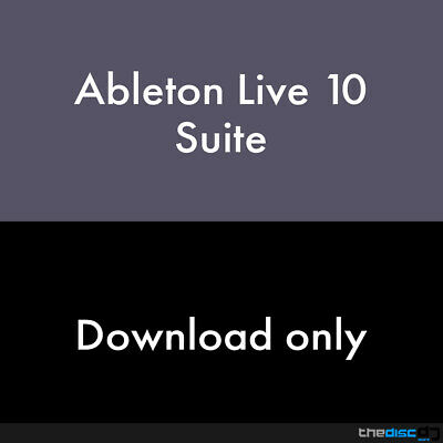 Ableton Live 10 Suite DAW Software Download • 299£