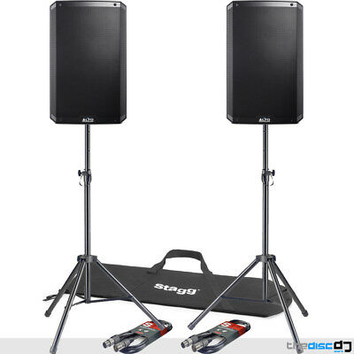 Alto TS315 15  Active PA Speakers With Free Tripod Stands And Leads PA Bundle • 630£