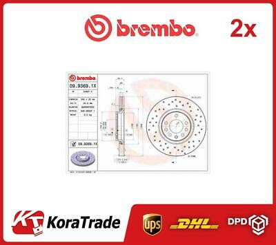 2x 0993691X BREMBO OE QUALITY BRAKE DISC SET • 177£