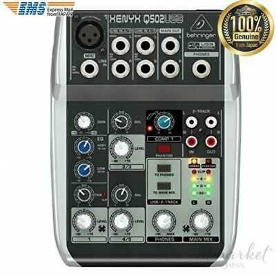 Behringer Analog Mixer Q502USB Xenyx Premium Ultra Low Noise From JAPAN • 368.58£