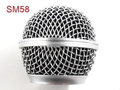 2 PCS Replacement Ball Head Mesh Microphone Grille For Shure SM58 SM58S SM58LC • 3.80£