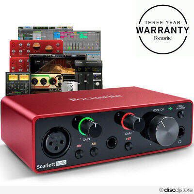 Focusrite Scarlett Solo (3rd Gen) USB Audio Interface + Free Plugin Bundle • 129£
