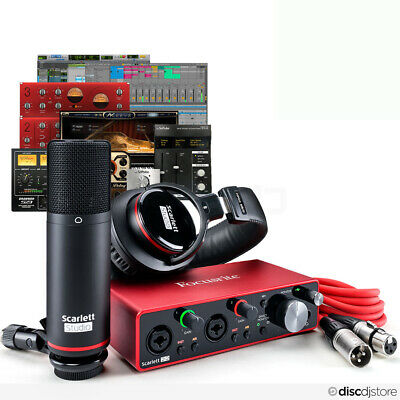 Focusrite Scarlett 2i2 Studio 3rd Gen Interface, Microphone, Headphones Software • 249£