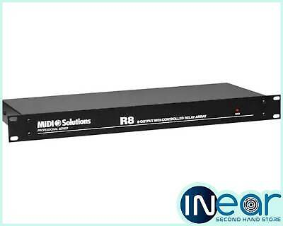 MIDI Solutions R8 Professional Series 8-Output Midi-Controlled Relay Array • 180£