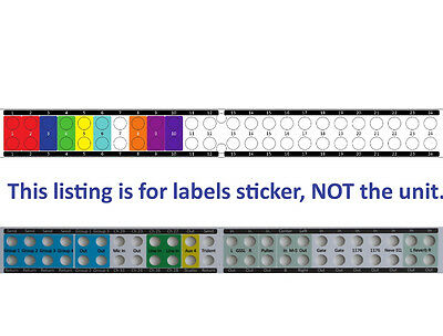 Custom Front Panel Labels Sticker For Patchbay Behringer  ULTRAPATCH PRO PX3000 • 17.71£