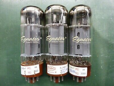 Egnater Ruby EL34 EL34BHT Vacuum Tubes. Tested Good. • 12.94£