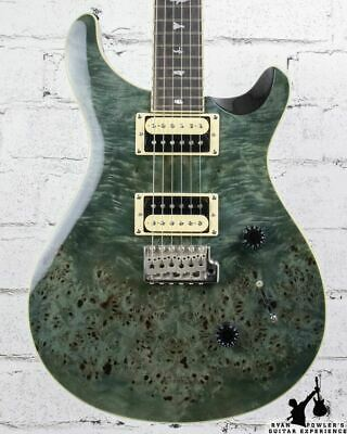 PRS SE Custom 24 Exotic Poplar Burl Custom Color Whale Blue Green W/ Bag • 691.67£