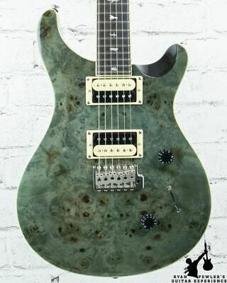 PRS SE Custom 24 Exotic Poplar Burl Custom Color Whale Blue Green W/ Bag (#8004) • 691.67£