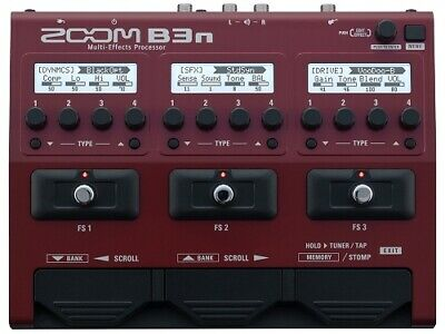ZOOM Multi-Effects Processor B3n Effects Pedal • 274.86£