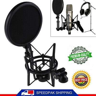 Professional Microphone Suspension Mic Shock Mount W/ Filter For Rode K2 NT1-A • 9.02£