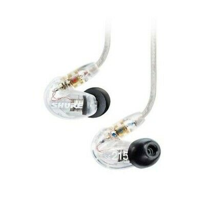 Shure SE215 Single Driver IEM Earphones Replaceable Cable - Clear - Refurbished. • 69.97£