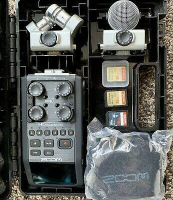 Zoom H6 Recorder With 3x SD Cards + Cubase LE 6 Audio Production Software • 265£