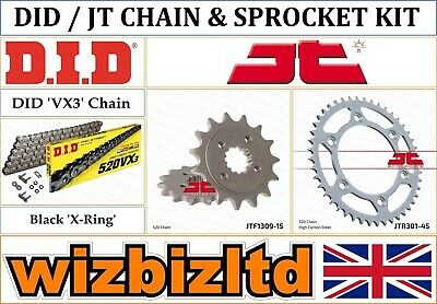 Honda XR650 L-P,A,B,C,D,E,F,G 1993-2016 [DID Black VX3] [X-Ring Chain Sprocket] • 95.95£