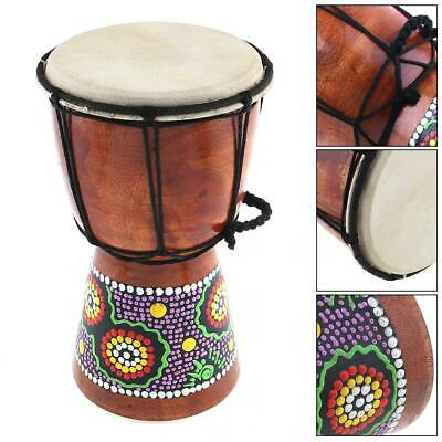 4 Inch African Djembe Percussion Hand Drum Mahogany Wooden Jambe Doumbek Drummer • 6.42£